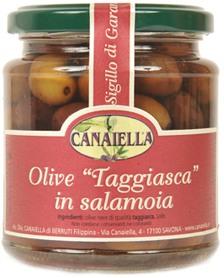 Le olive taggiasca in salamoia da canaiella